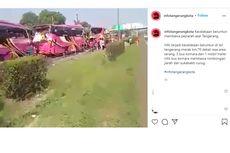 Viral, Video Kecelakaan Beruntun 4 Bus di Tol Merak, Ini Kronologinya