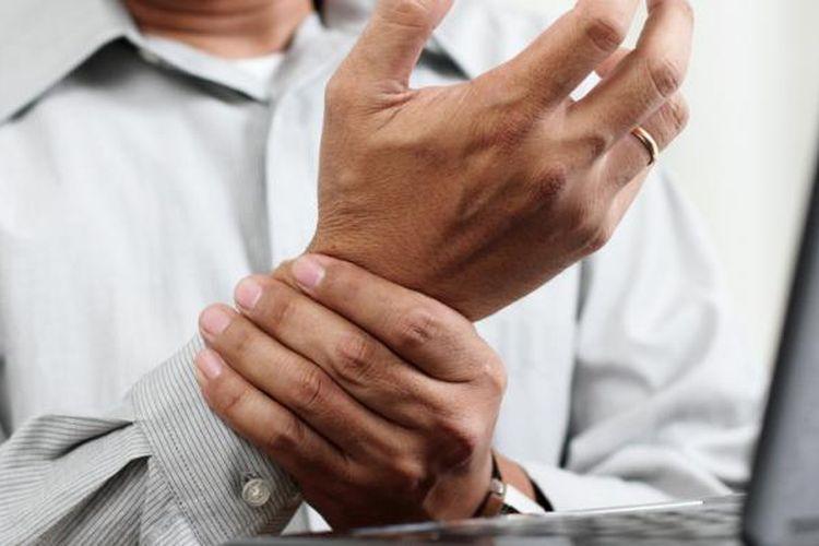 Ilustrasi tangan pegal