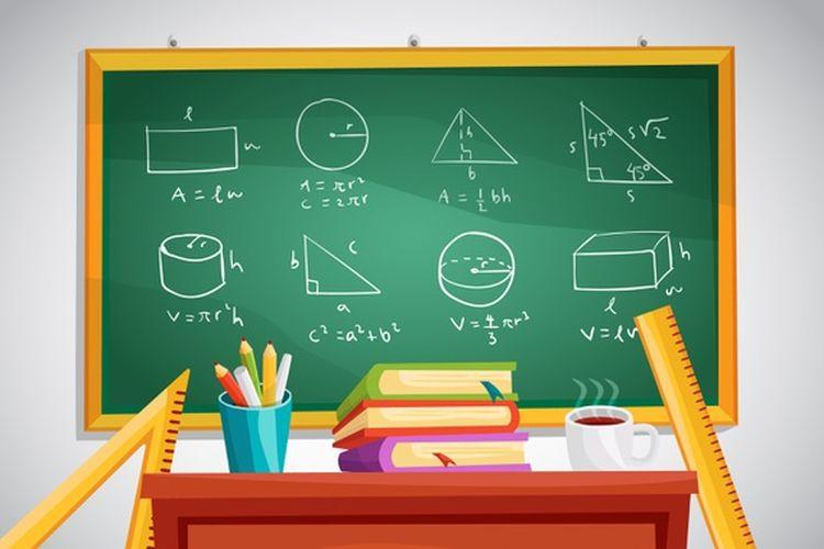 Ilustrasi pelajaran matematika di kelas.