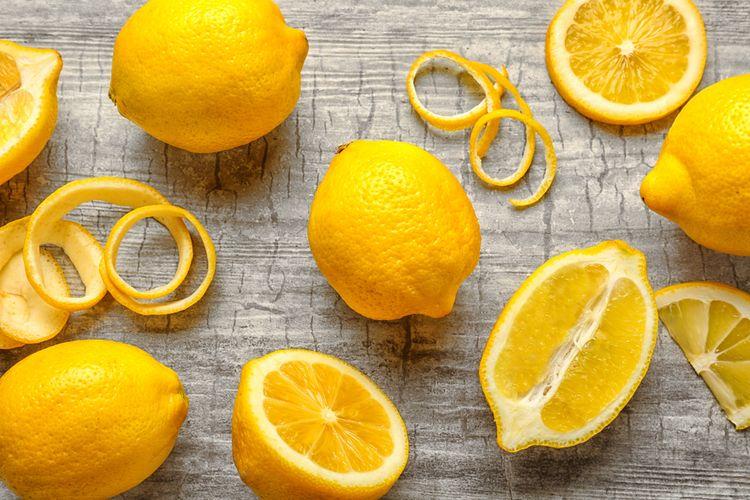 Ilustrasi kulit lemon