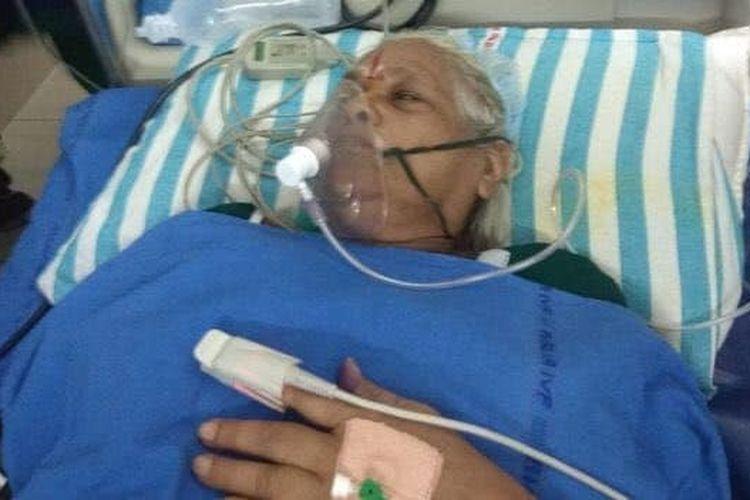 Mangayamma Yaramati (74) melahirkan bayi kembar lewat operasi caesar.