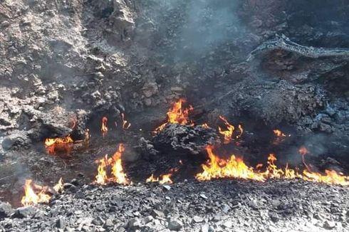 Api yang Muncul dari Dalam Kali Sudah Padam, Bau Minyak Tanah Masih Menyengat