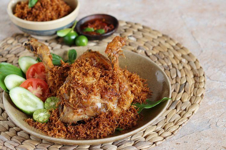 Ilustrasi ayam goreng.
