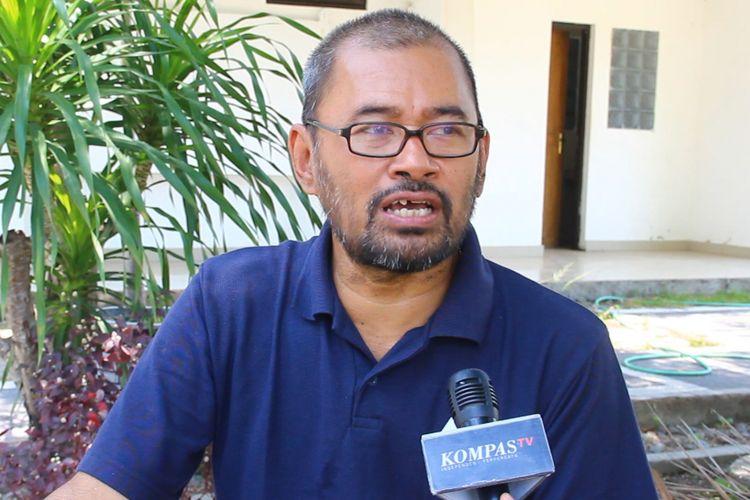 Eko Teguh Paripurno, ahli atau pakar kebencanaan saat diwawancara di Mataram, Lombok, Minggu (30/9) Dia berharap semua pihak belajar dari gempa dan tsunami di Palu