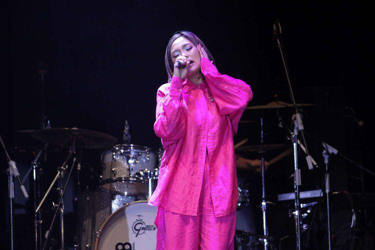 Marion Jola tampil di Java Jazz Festival 2020 yang digelar di JIExpo, Kemayoran, Jakarta Pusat, Jumat (29/2/2020).