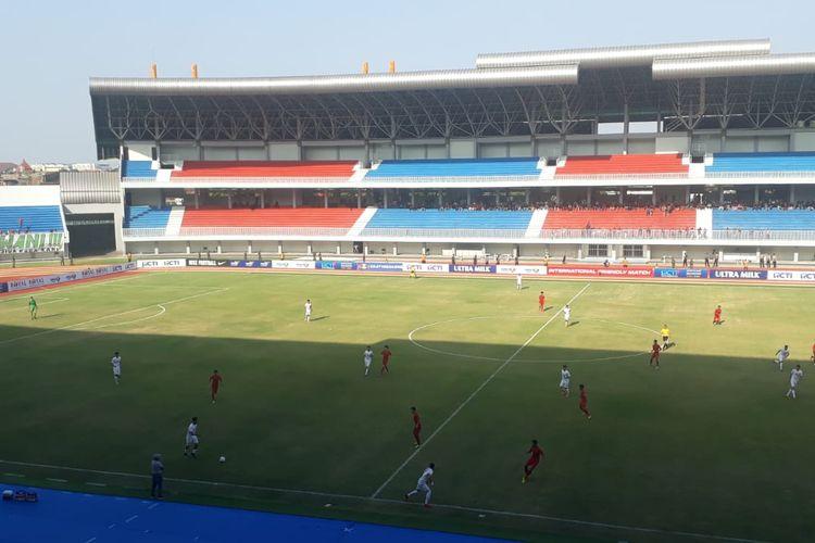 Laga timnas U-19 Indonesia vs timnas u-19 Iran di Stadion Mandala Krida, Yogyakarta, Rabu (11/10/2019).