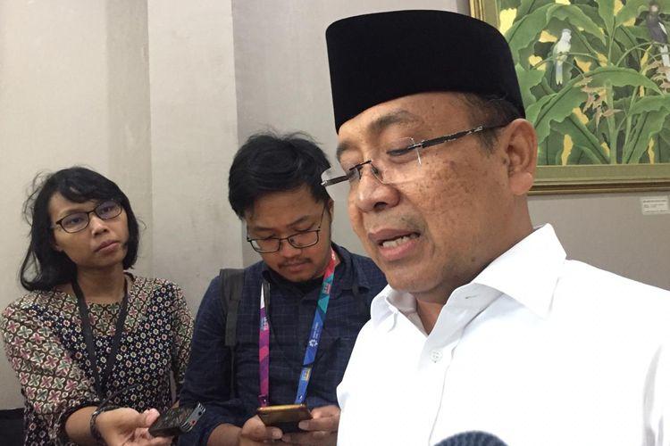 Menteri Sekretaris Negara Pratikno di Istana Kepresidenan Jakarta, Jumat (5/4/2019).