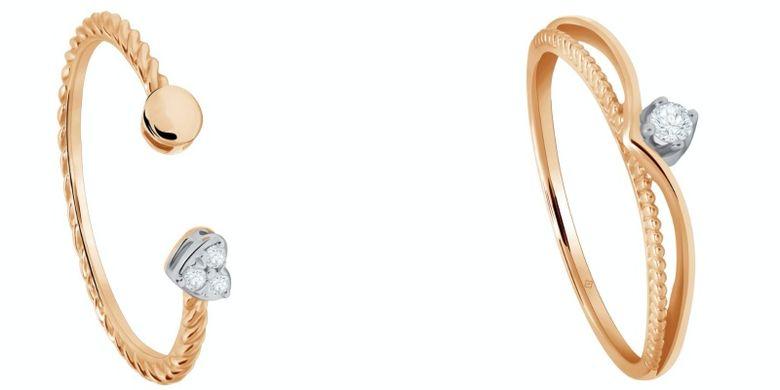 Koleksi cincin dari seri perhiasan Bermoela.