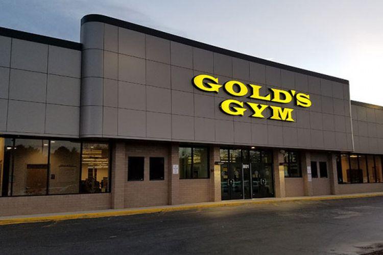Salah satu ruang Golds Gym di Amerika Serikat.