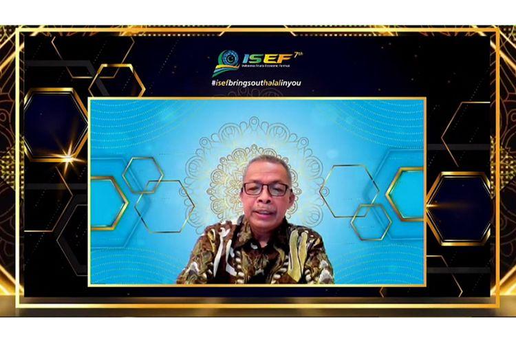 Deputi Gubernur Bank Indonesia (BI) Sugeng saat memberikan sambutan dalam acara penutupan ISEF ketujuh 2020 yang digelar secara virtual, Sabtu (31/8/2020)