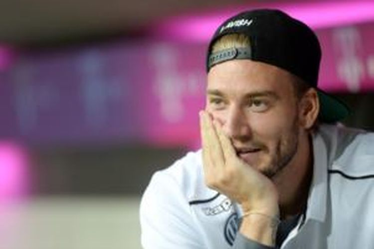 Striker VfL Wolfsburg, Nicklas Bendtner.