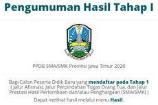 Cek Pengumuman PPDB SMA/SMK Jatim 2020 Tahap 1 di Sini