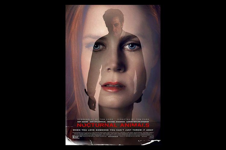 Poster Nocturnal Animals (2016), dibintangi Amy Adams dan Jake Gyllenhaal.
