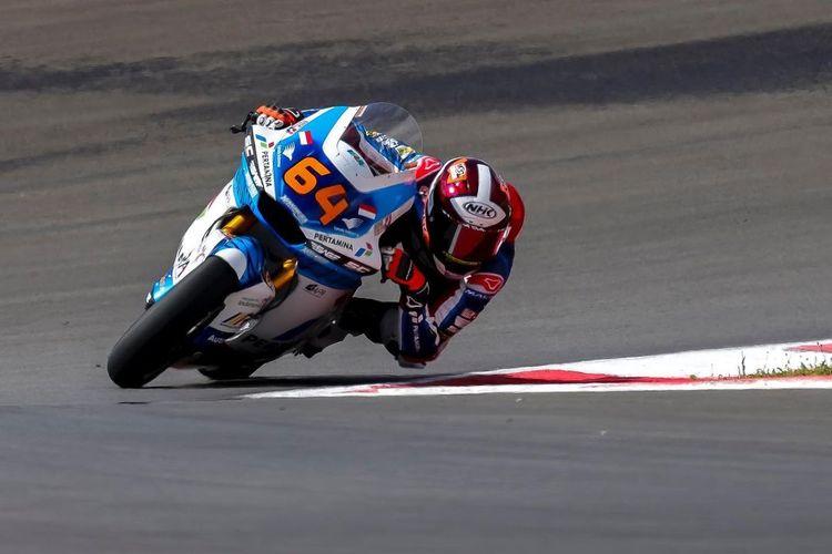 Bo Bendsneyder saat sesi latihan bebas di Moto2 Portugal 2021