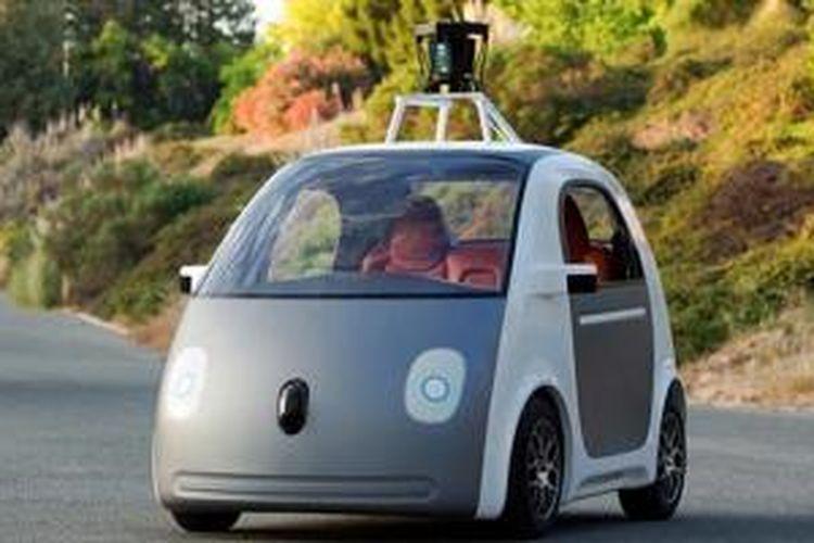 Mobil Otonomos Google Mirip Smart ForTwo dengan dua pintu dan muat dua penumpang.