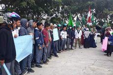 Mahasiswa Tolak Puluhan Siswa yang Ingin Bergabung Demo