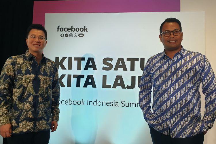 Kiri-kanan: Benjamin Joe, VP Facebook Asia Tenggara dan Ruben Hattari, Kepala Kebijakan Facebook Indonesia