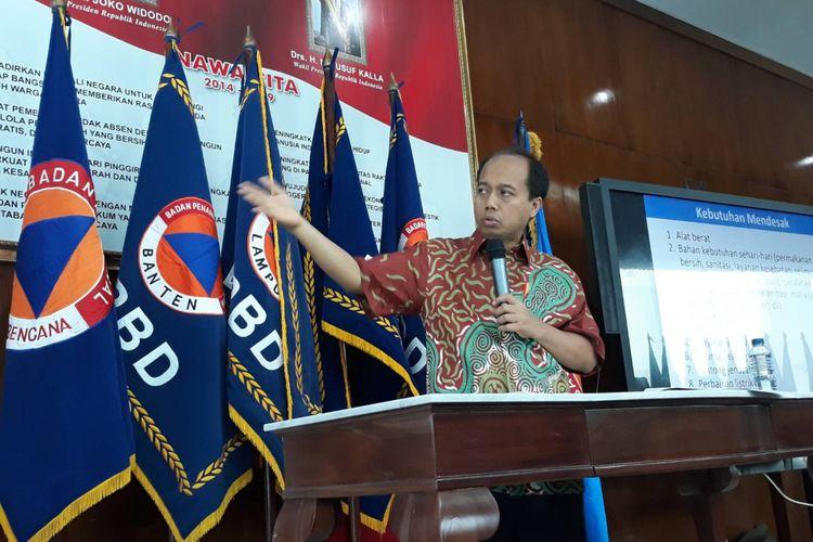 Kepala Pusat Data, Informasi dan Hubungan Masyarakat BNPB Sutopo Purwo Nugroho