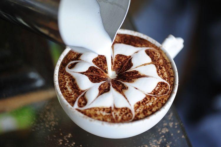 Ilustrasi latte art.