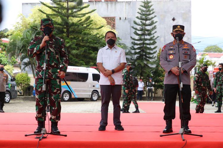 Kapolri dan Panglima TNI dapat penghargaan di Haornas 2021 karena Berkontribusi Memajukan Olahraga Nasional.