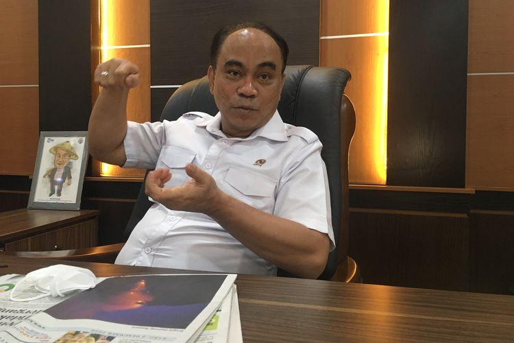 Wakil Menteri Desa, Pembangunan Daerah Tertinggal, dan Transmigrasi (PDTT), Budi Arie Setiadi. Gambar diambil di kantor Kementerian Desa PDTT, Rabu (2/12/2020)