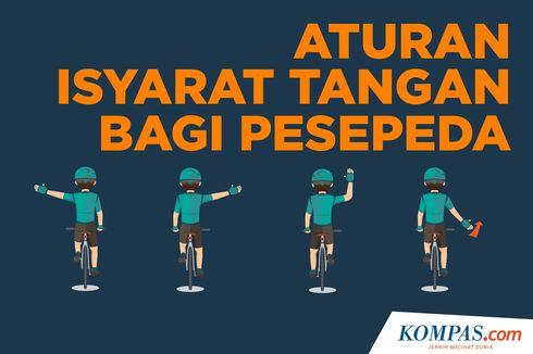INFOGRAFIK: Aturan Isyarat Tangan bagi Pesepeda