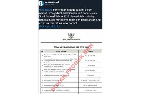 [HOAKS] Surat Tahapan Pelaksanaan SKB CPNS 2019
