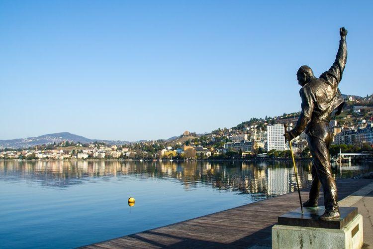 Ilustrasi Swiss - Tempat wisata bernama Montreux yang lokasinya dekat dengan Danau Jenewa, Swiss (SHUTTERSTOCK/KevinWood).