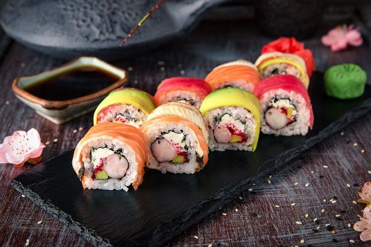 Ilustración de sushi.