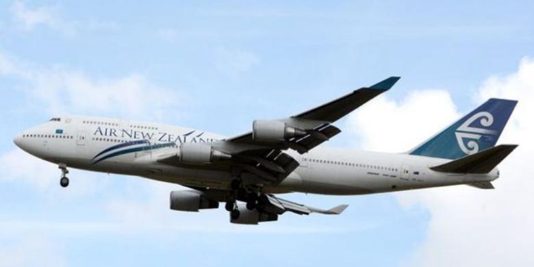 Sebuah pesawat milik maskapai penerbangan Air New Zealand.