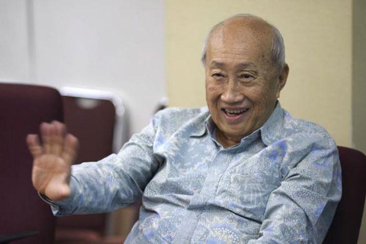 Pengusaha yang juga menjabat sebagai Ketua Tim Ahli Wakil Presiden Jusuf Kalla, Sofjan Wanandi, saat ditemui di Jakarta, Jumat (14/8/2015).