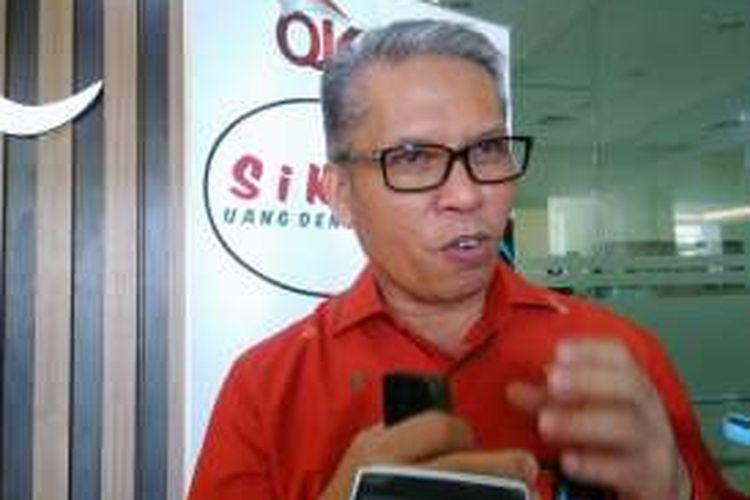 Direktur Utama BPD Sulteng Rahmat Abdul Haris, di Palu, Sulawesi Tengah, Kamis (22/9/2016).