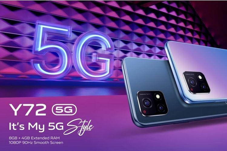 Vivo merilis Y72 5G di India. Ponsel ini memiliki bentuk dan spesifikasi yang berbeda dengan Vivo Y72 5G versi Thailand.