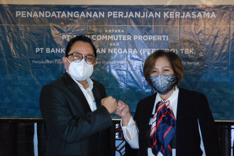 PT Bank Tabungan Negara (persero) Tbk atau BTN berkolaborasi dengan sesama BUMN, PT Adhi Commuter Properti (ACP), biayai KPR kawasan transit oriented development (TOD), Adhi City Sentul, Bogor,