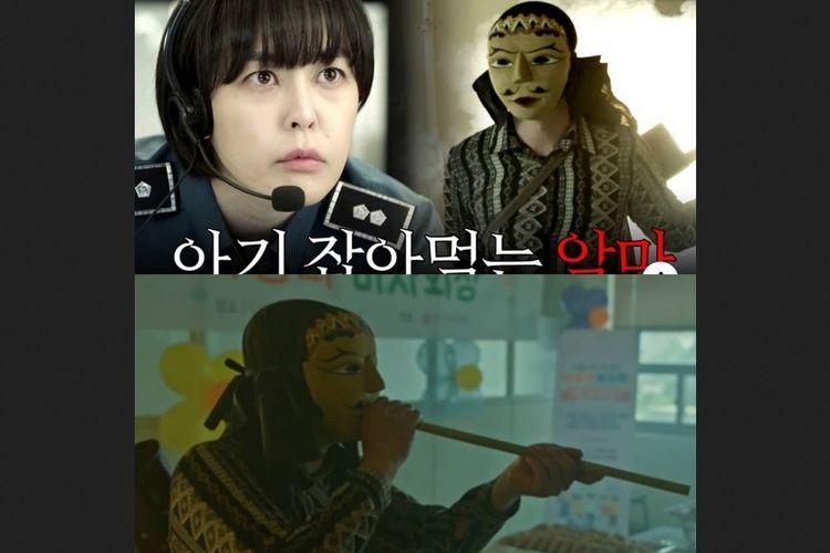 Salah satu penampilan Yannie Kim saat mengenakan topeng dalam episode 6 drama Korea Voice 3.