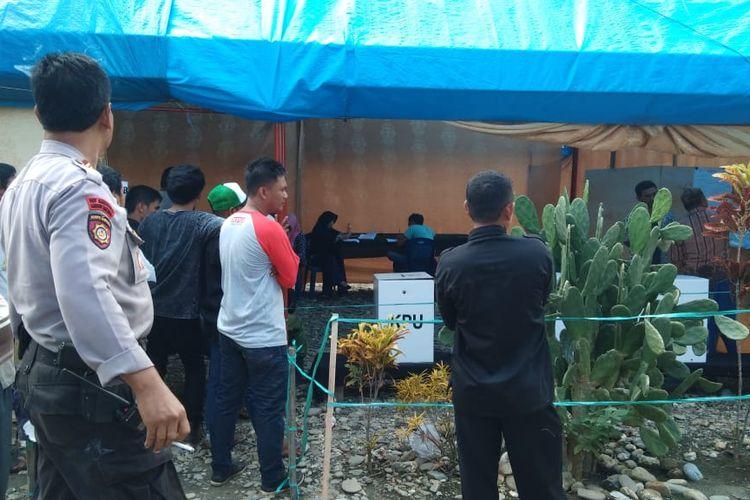 Pelaksanaan PSU di TPS 10 desa Jalajja, kecamatan Burau, Luwu Timur berjalan lancar, aman dan kondusif, Sabtu (27/04/2019)