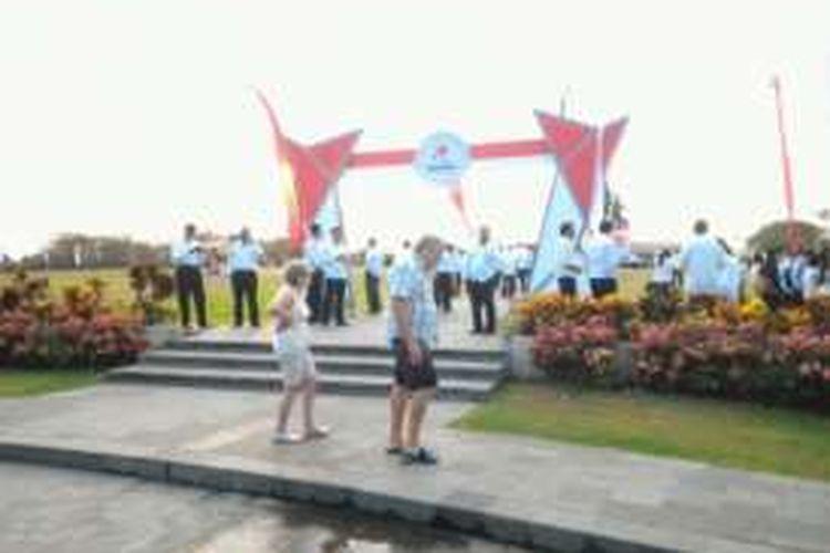 Pulau Peninsula Nusa Dua Bali saat digelar acara dan dikunjungi wisatawan beberapa waktu lalu.