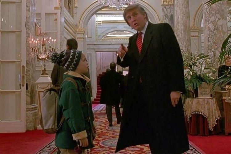 Tangkapan layar dari adegan Donald Trump di film Home Alone 2: Lost in New York.(SCREENGRAB HOME ALONE 2 via INSIDER)  Artikel ini telah tayang di Kompas.com dengan judul