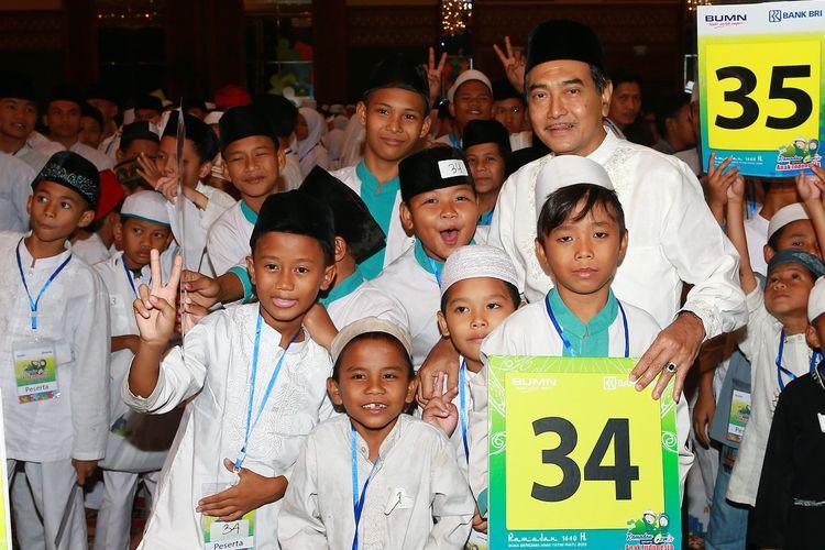 Bank BRI mengadakan kegiatan berbuka bersama 3.500 anak yatim di Jakarta Convention Center, Senin (20/05/2019).