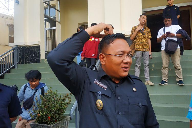 Wakil Wali Kota Depok, Pradi Supriatna ditemui wartawan di gedung DPRD Kota Depok, Jumat (21/2/2020).
