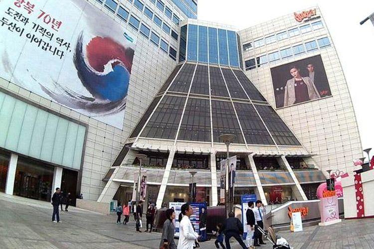 Doota, salah satu mal di Dongdaemun, Korsel yang buka sampai Subuh.
