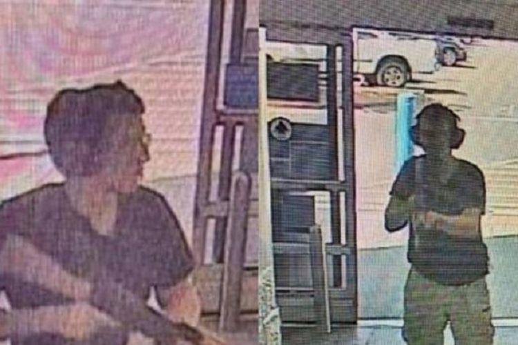 Inilah potongan rekaman yang memperlihatkan seorang pelaku penembakan massal yang menyerang Walmart El Paso di Texas, Amerika Serikat, Sabtu (3/8/2019). Dilaporkan 20 orang tewas karena penembakan massal tersebut.