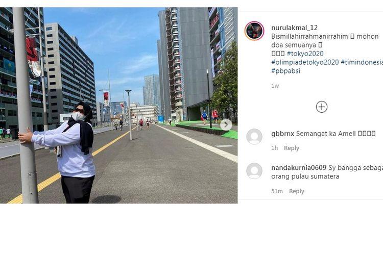 Nurul Akmal, atlet anglat besi putri Indonesia kelas +87 kg menjadi wakil terakhir Indonesia di Olimpiade Tokyo 2021 cabang olahraga angkat besi kelas +87 kg, Senin (2/8/2021). Ia adalah lifter asal Aceh, anak petani.