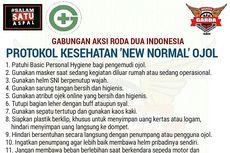 Begini Protokol Kesehatan New Normal ala Ojek Online