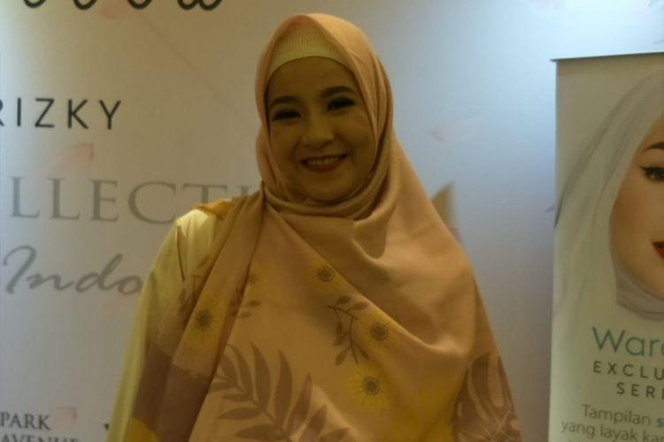 Natasha Rizky saat ditemui usai Launching Alur Cerita by Natasha Rizky di kawasan Gandaria, Jakarta Selatan, Jumat (23/11/2018).