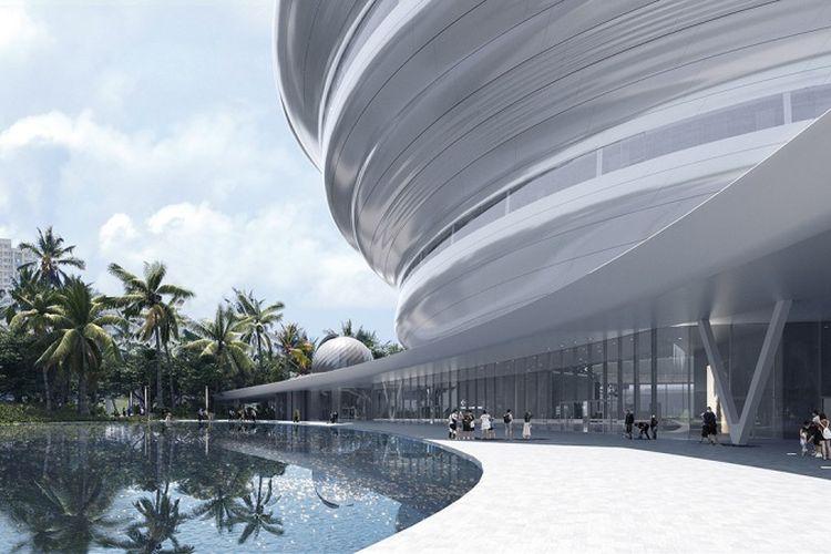 Museum sains dan teknologi Hainan yang berlokasi di Kota Haikou, Hainan, China. Museum ini dirancang oleh firma arsitektur Beijing, MAD.