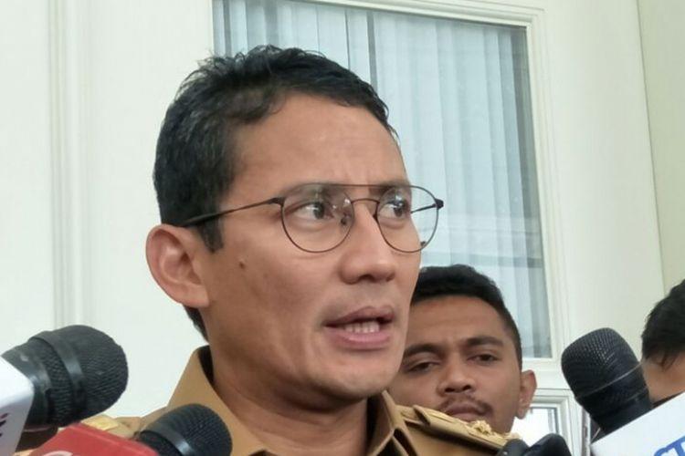 Wakil Gubernur DKI Jakarta Sandiaga Uno di Balai Kota DKI Jakarta, Jalan Medan Merdeka Selatan, Selasa (5/12/2017).