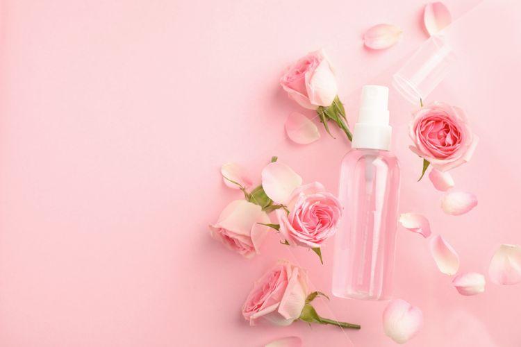 Ilustrasi air mawar
