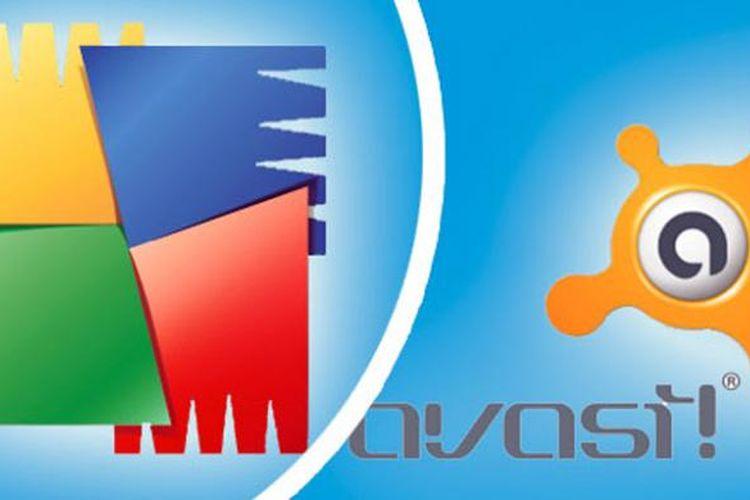Logo AVG dan Avast.