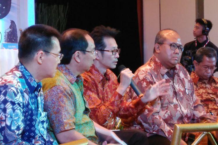 Konfrensi pers PT Campina Ice Cream Industry di Menara UOB Jakarta, Rabu (22/11/2017).